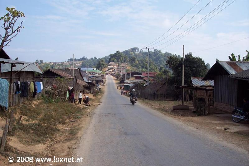 Typical village in Oudomsay province