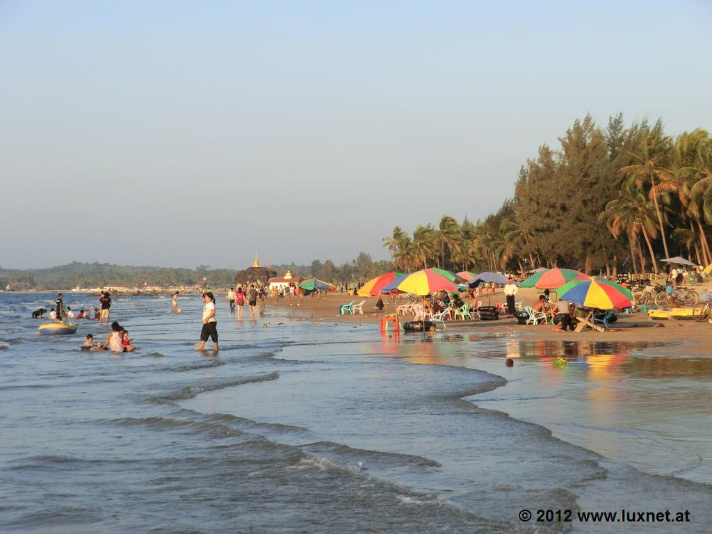 Chaungtha Beach Myanmar  city photos gallery : Chaungtha Beach is preferred by the locals around the weekends. It's ...